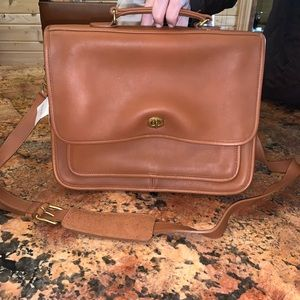 Vintage coach laptop/briefcase